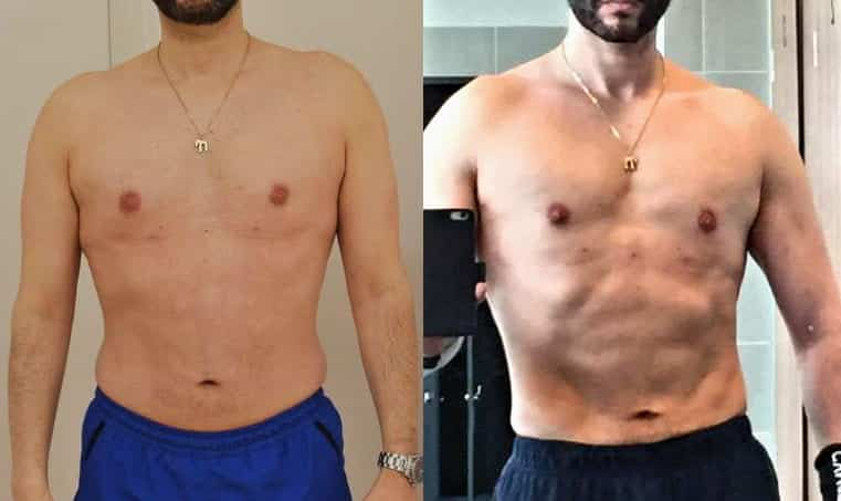 body transformation to increase muscle tone